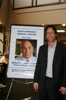 Livingston Mayor Michael Rieber Attends Senator Cory Booker's Meet and Greet at SBMC.