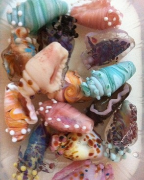 Sea Shell Glass Beads