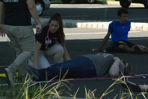Students Learn EMS Procedures in Mass Casualty Drill, photo 2