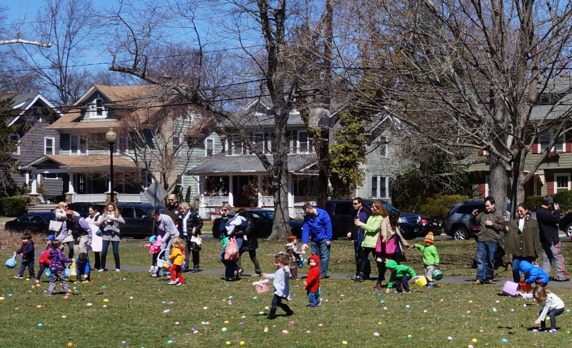 Adults scour park for prizes in adult-only Easter egg hunt