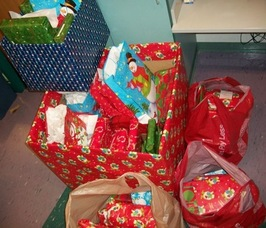 Gifts collected by Sparta Middle School Students