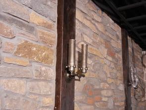 Light fixture detail in 33 Speakeasy.