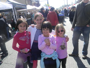 Children at the street fair