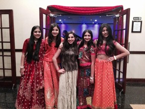 Middle Schoolers at the 1st Millburn Diwali Party