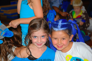 Riley Competello and Augusta Fuhr enjoy the festivities at Deerfield Elementary School's Schoolebration.