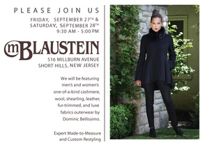 M. Blaustein to Host Trunk Show for Outerwear Designer Dominic Bellissimo, photo 2