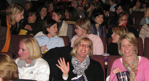 Members of the Matinee Club gather to enjoy a movie