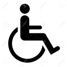Carousel image 1031b6250fa732bb1adf 6419599 silhouette of disabled person in wheelchair symbol or sign isolated on white background  stock photo