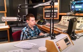 Brian interns with Central New Jersey radio station Magic 98.3FM