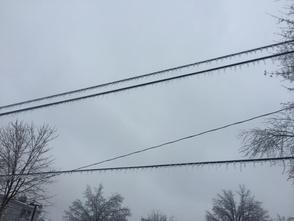 Ice on Power Line