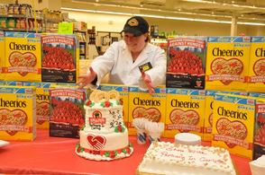 Jess Dackerman, who baked the celebratory cake.