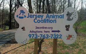 Jersey Animal Coalition sign