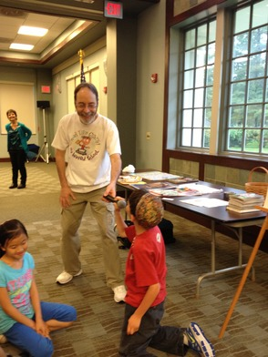 Youngster Takes Over the Dan Gutman Book-Signing Event