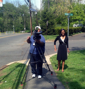 WNBC reporter Stacey Bell met with Scotch Plains families on Weds, May 14