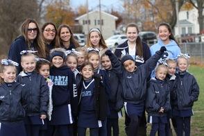 Columbia Blue Flag Cheer Squad