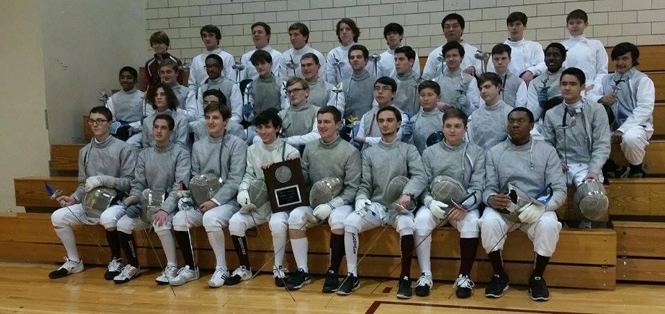 Morristown high school boys fencing team wins county