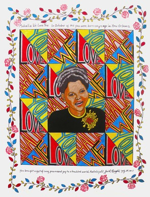 "Faith Ringgold, ""Mahalia We Love You"""