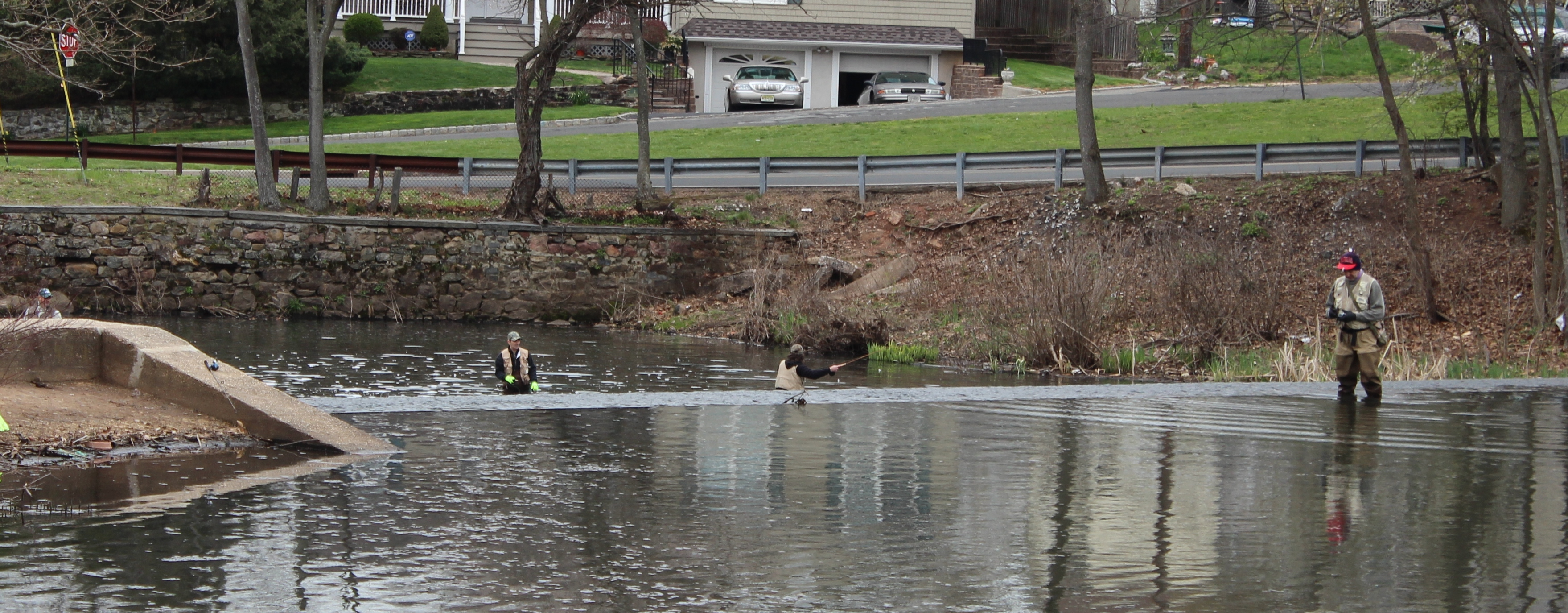 Trout fishing season opens anglers take to the water for Local fishing ponds