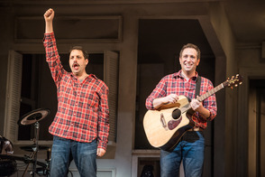 The Other Josh Cohen! at Paper Mill Playhouse; From left to right: Hannah Elless, David Rossmer, Steve Rosen, and Kate Wetherhead.
