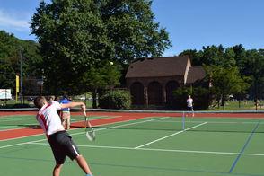 Montclair High School Varsity tennis players Ben and Jacob Thompson