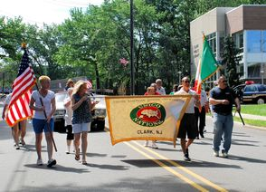 Clark Unico Marches in the Memorial Day Parade