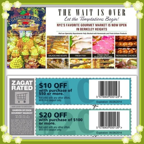 Garden of eden is open and offering coupon savings news for Gardening naturally coupon