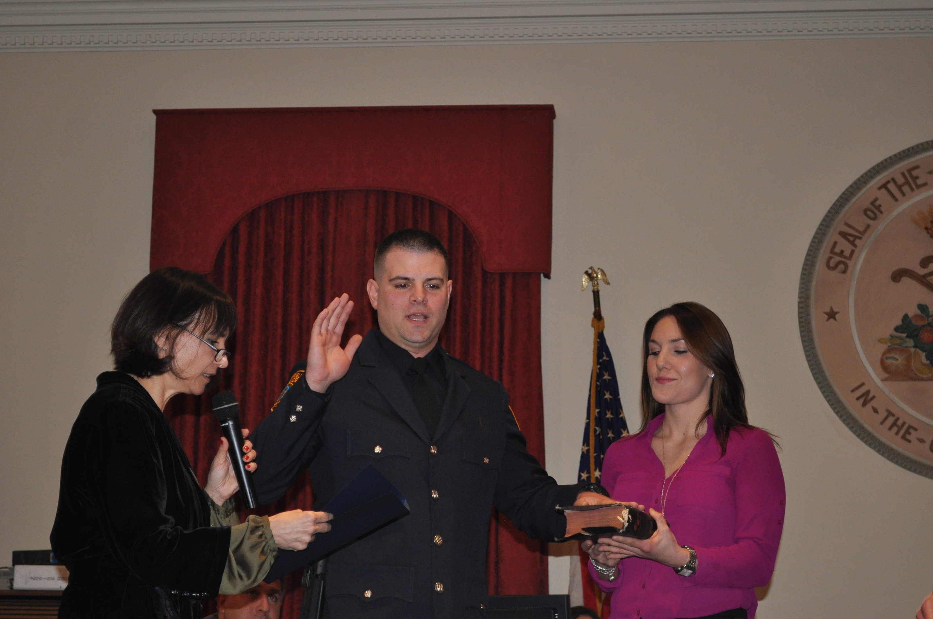 9 Westfield Police Officers Sworn in at Town Council Meeting