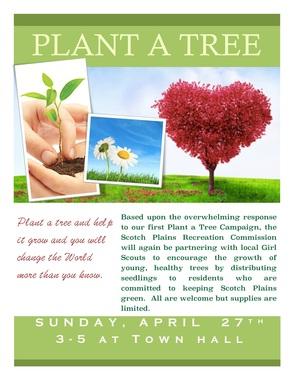 Plant-A-Tree Campaign Returns to Scotch Plains on Sun., Apr. 27, photo 1