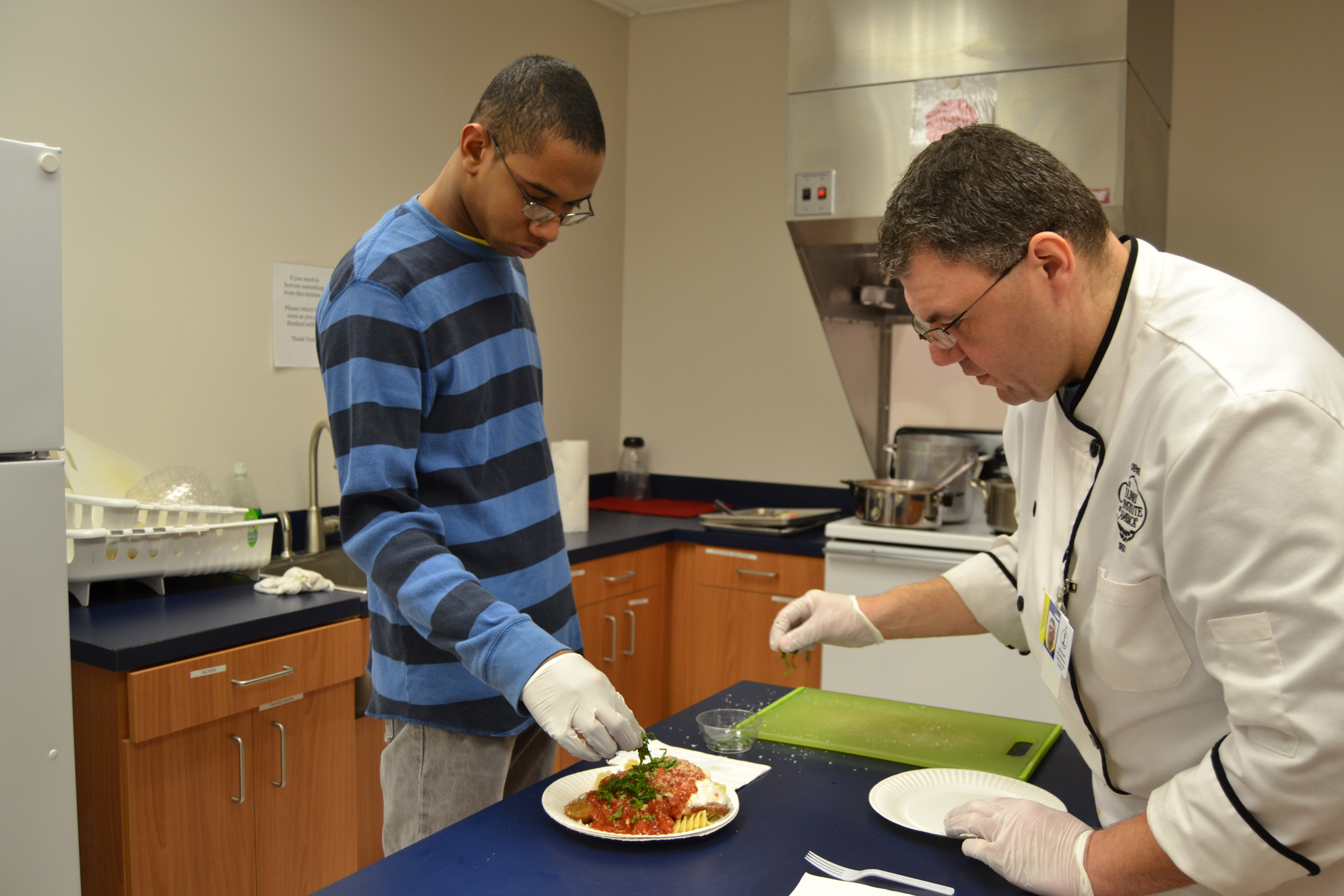 Students at The Children's Institute Enjoy Culinary Program with Chef