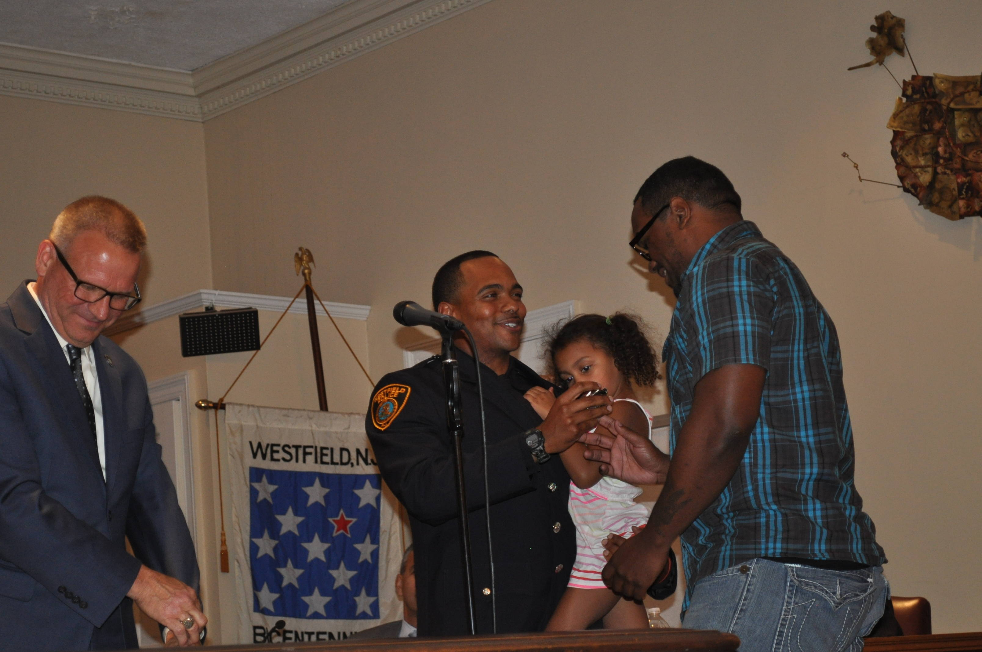8 New Westfield Cops Sworn in, 6 Promoted, at Ceremony
