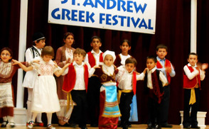 BIG GREEK FESTIVAL: Young Greek dancers entertain the crowds