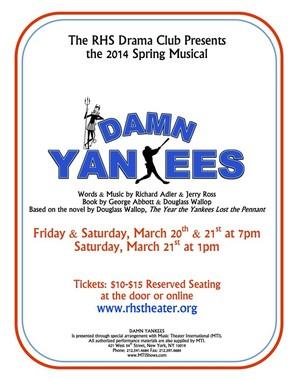 """Damn Yankees"" Official Poster"