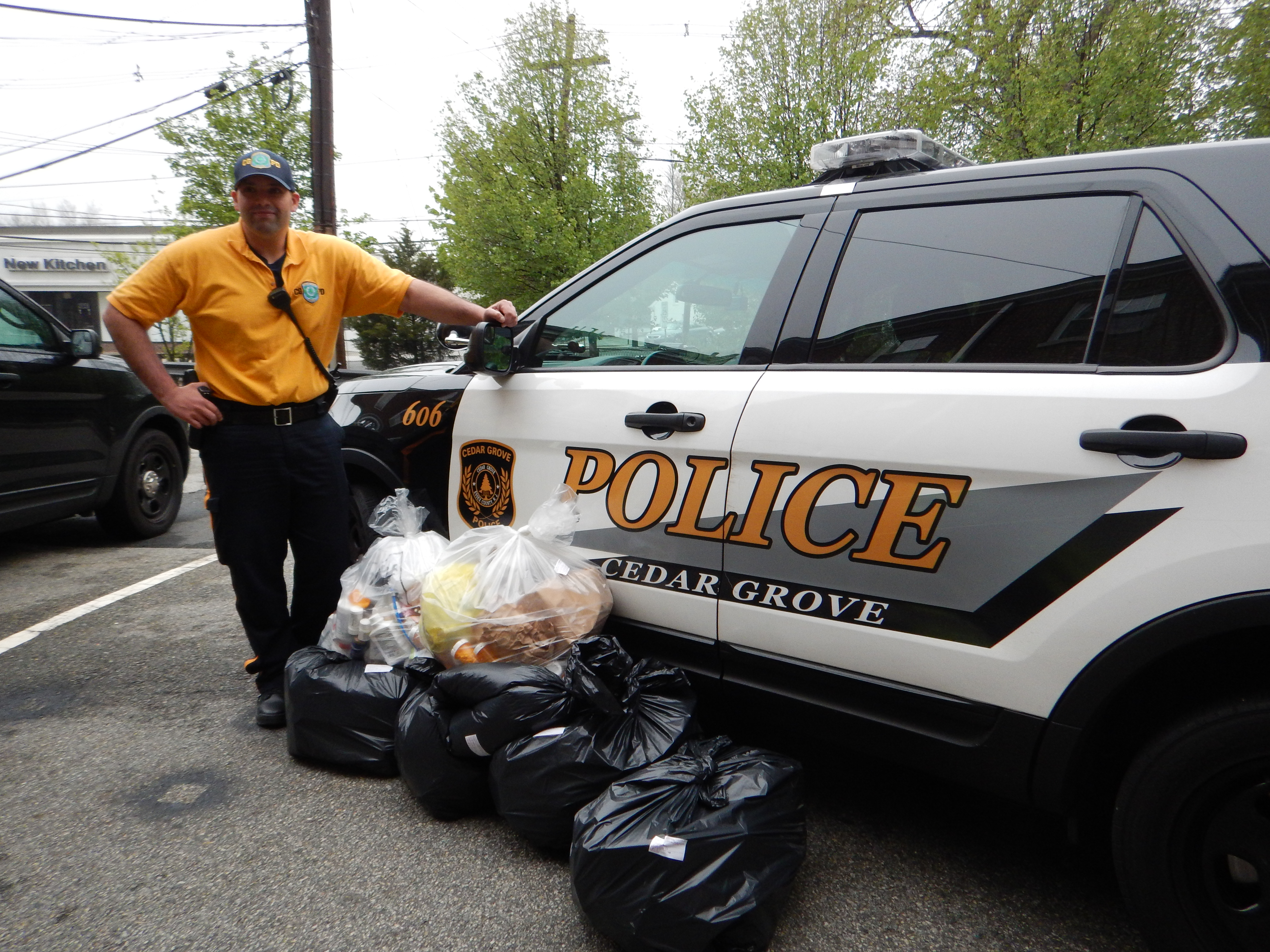 cedar grove police collect 120 pounds of surrendered