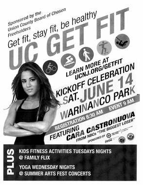 """Union County Get Fit"" is Happening this Saturday with Guest Cara Castronuova!, photo 1"