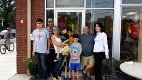 The Rappa Family celebrating the Grand Opening