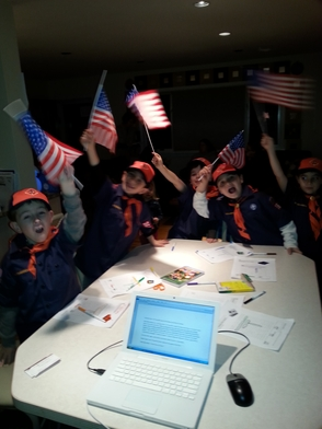 Cub Scout Den 7 of Troop 363 Learns Online News and More on Sunday, photo 1
