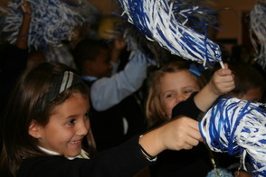 Students Shake Their Pom Poms