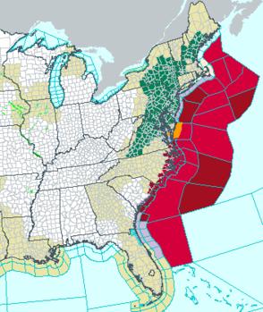 Hurricane Arthur's projected path