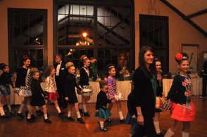 Emily Endean and the Endean Academy of Irish Dance Dancers, in the procession.