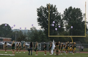 A Moment of Silence for Brooke Healey Represented with Purple Balloons