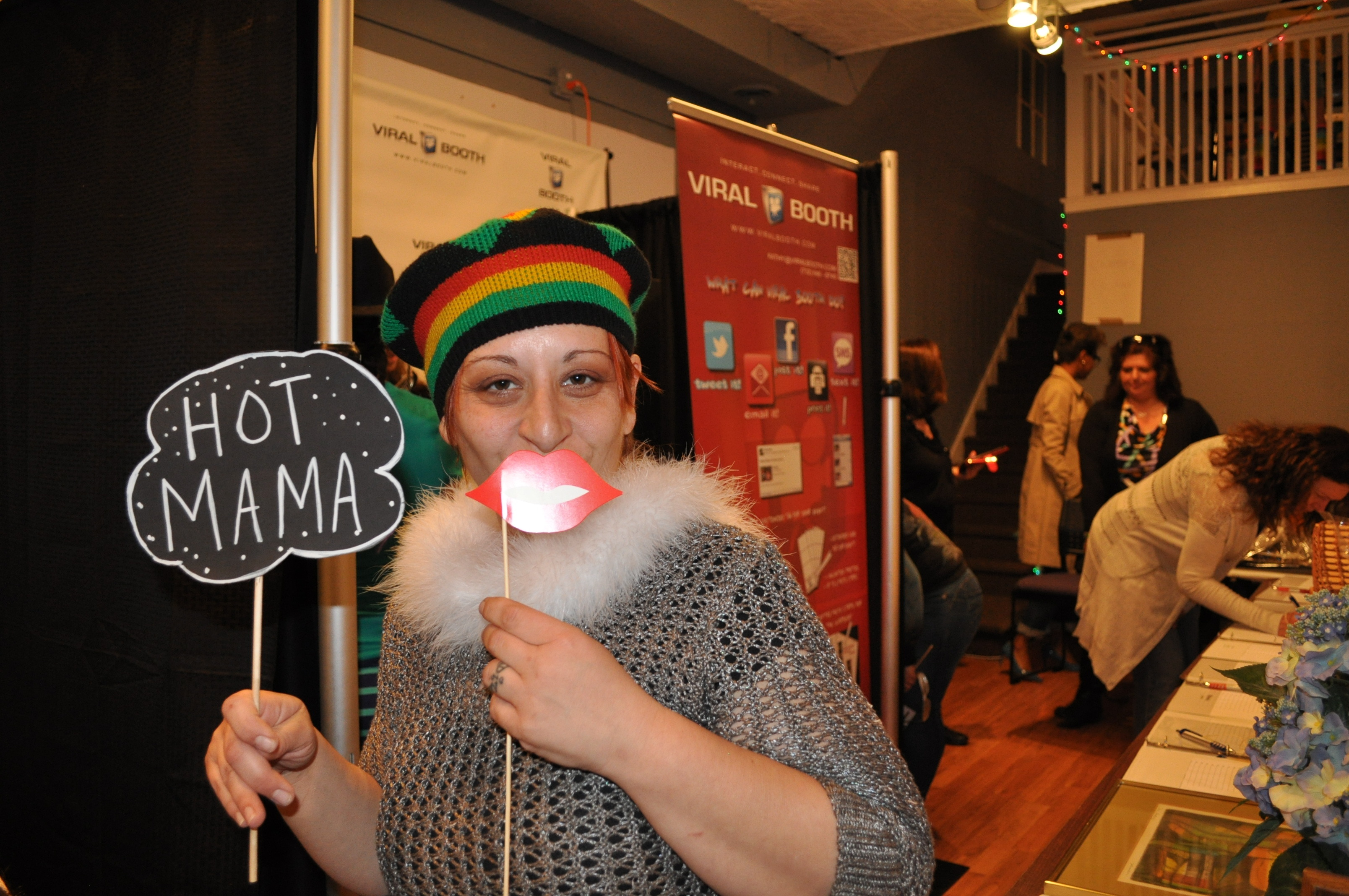 jay s cycle center in westfield hosts fundraiser for furniture lisa natale owner of michele s on prospect takes a break from serving food to enter the viral photo booth credits jackie lieberman