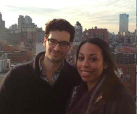 Alex Rizos and Olivia Bonner
