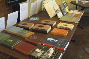 Sherlock Holmes Books on Display