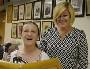 Mallory Banks with Mayor Colleen Mahr