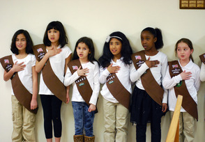 Council Acknowledges College Club and Girl Scouts, photo 1