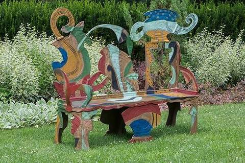 Greenwood Gardens Of Short Hills Presents Bronze Benches By Celebrated Artist Betty Woodman