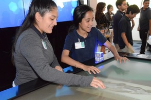 BASF has a hands on exhibit for visitors
