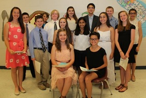 Members of the National Junior Honor Society Class of 2015