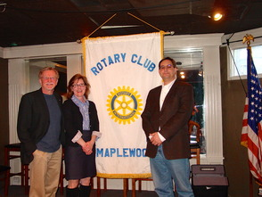 Andrea Wren-Hardin visits Maplewood Rotary Club