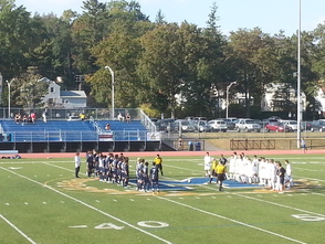 Millburn and Montclair Soccer Teams Line Up to Start the Game